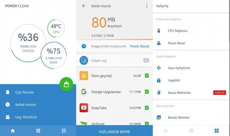 power-clean-android Android Telefonları Hızlandıracak 5 Uygulama