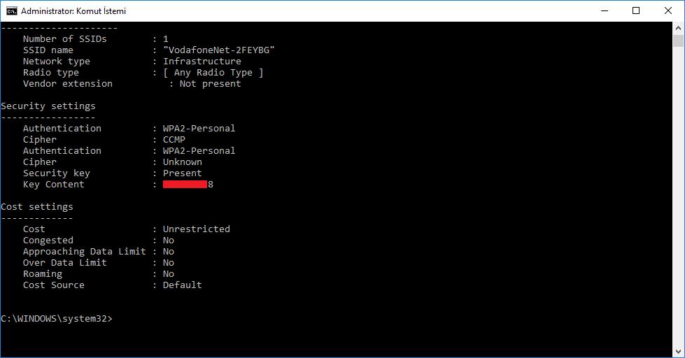 wifi şifre Unutulan Wifi Şifresini Bulun
