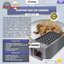 Takoyaki Gas (28 Lubang) MKS-711B
