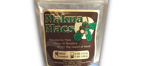 Makua Macs Roasted Salted Macadamia Nuts Hawaii 7 oz Bag