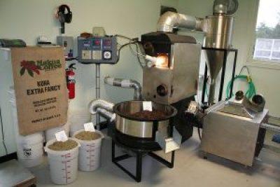 Makua Coffee Company Roasting Equipment in their certified Kailua-Kona Location