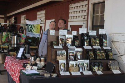 Stacy and Dylan Aurway of Makua Coffee Company at the Kamuela Farmers Market