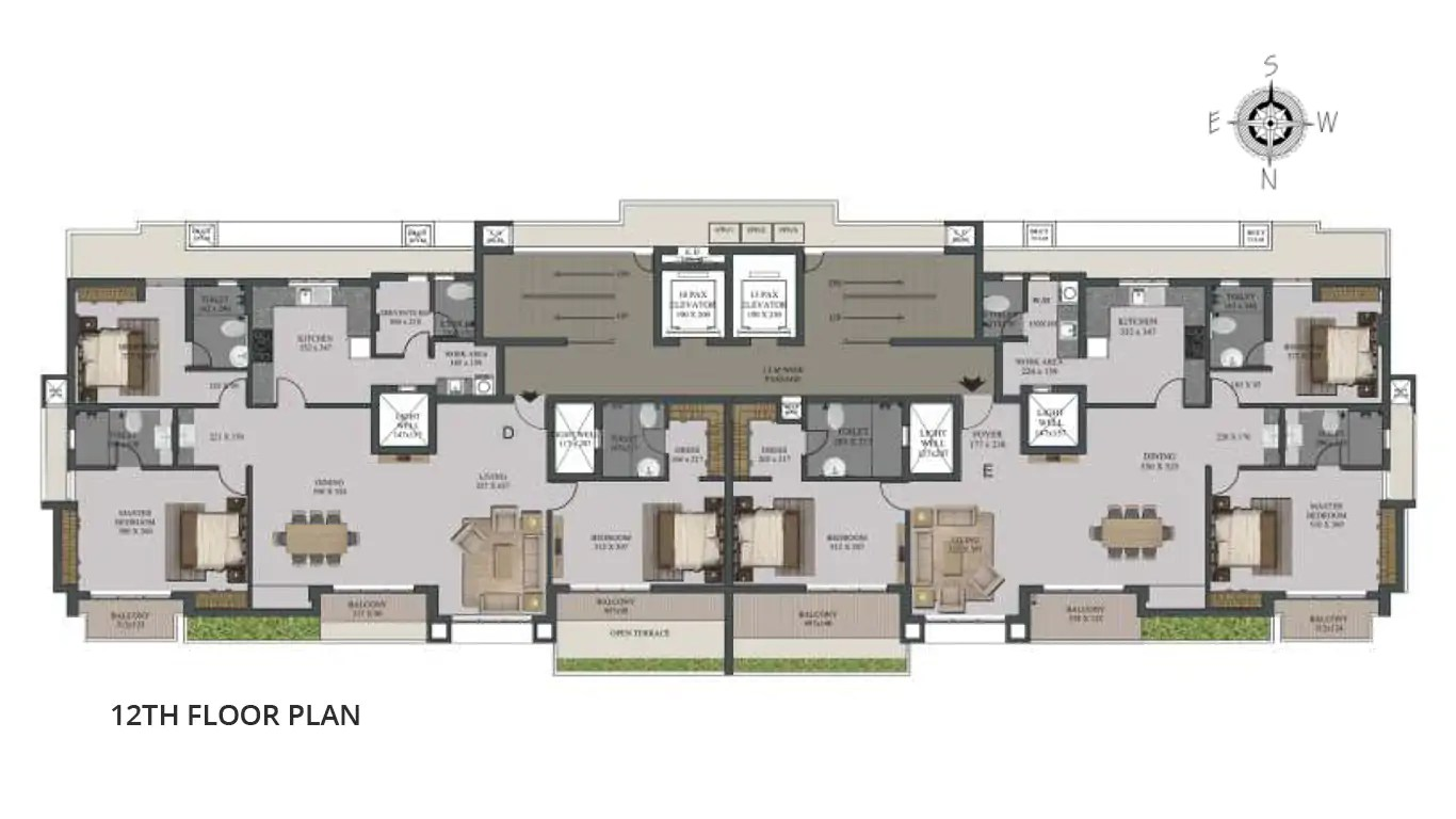 12th Floor Plan