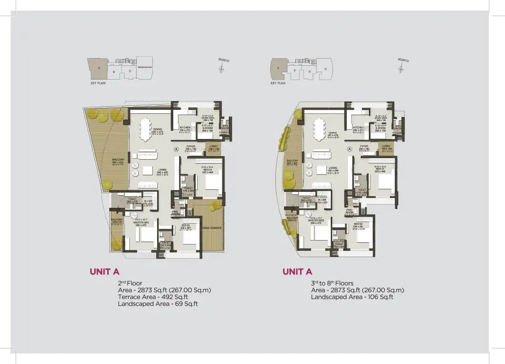 Unit A (2nd Floor), Unit A (3rd - 8th)