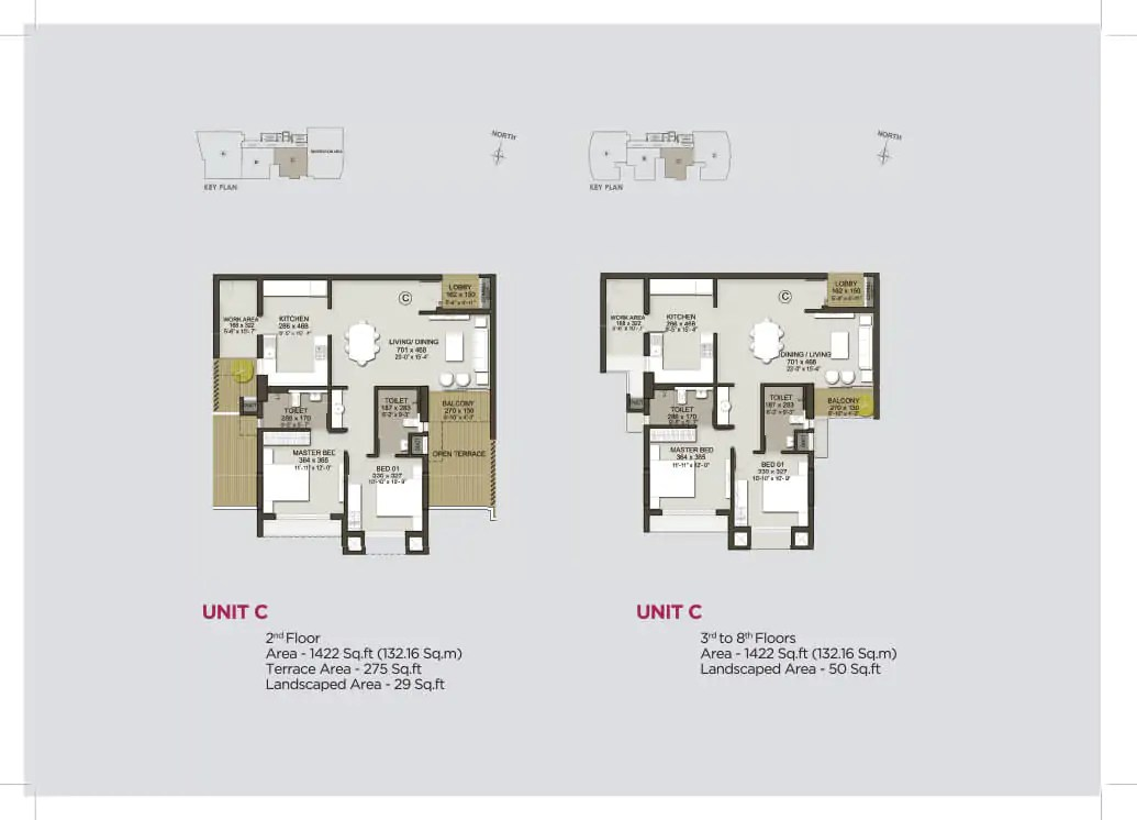 Unit C (2nd Floor), Unit C (3rd to 8th)