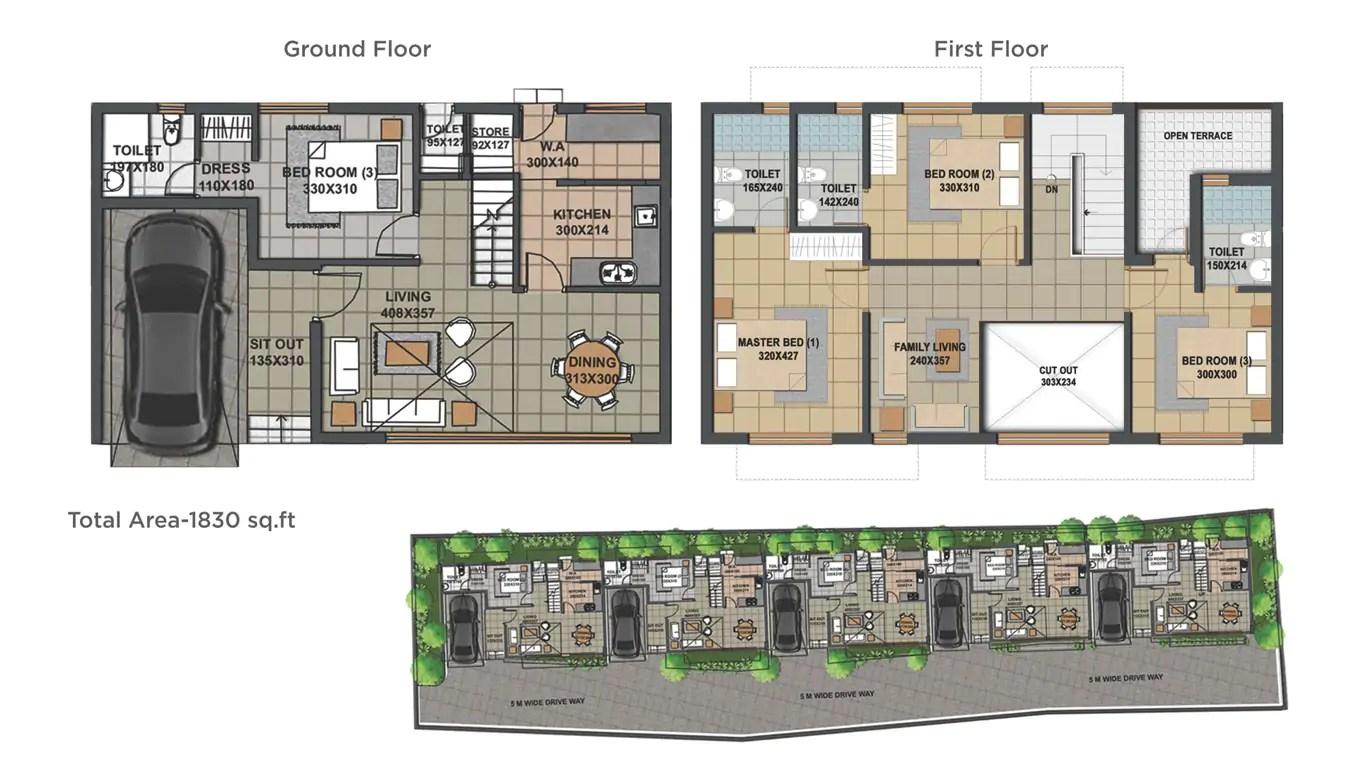 Ground floor - First floor