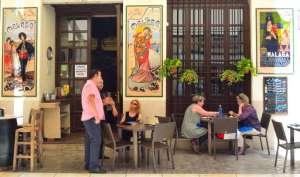 Spainish tapas Bar with colourful ceramic tiles