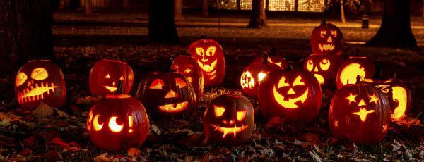 Halloween in Malaga with pumpkins