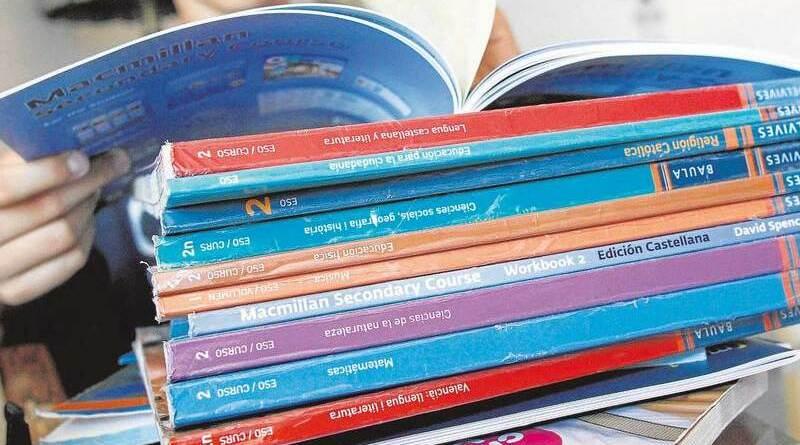 libros de texto, educación