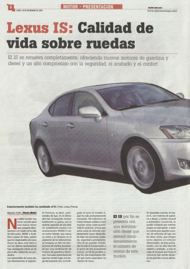Diario Málaga Motor Presentación Lexus IS Página 01