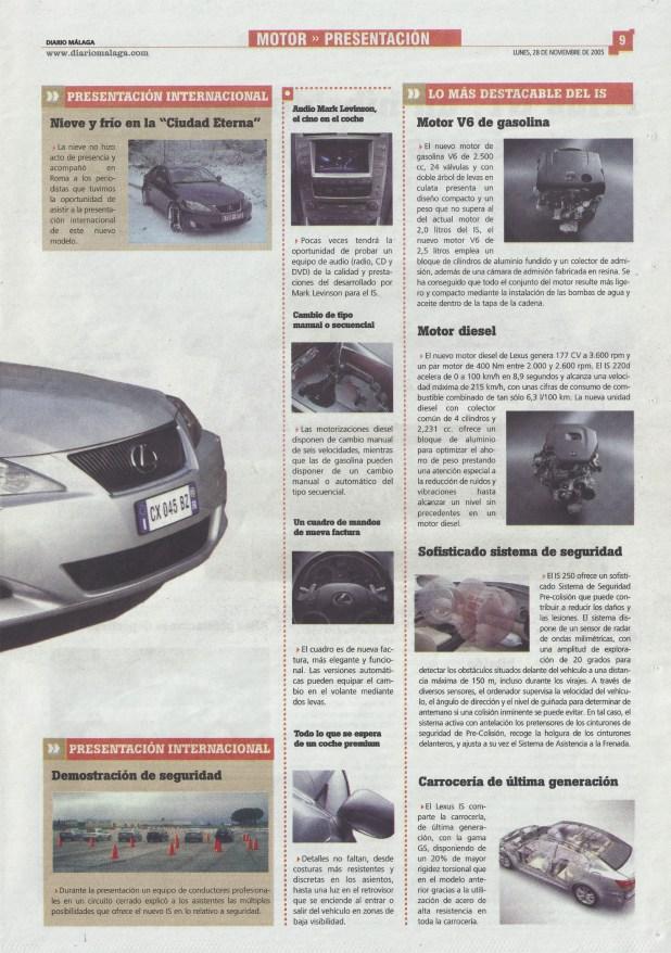 Diario Málaga Motor Presentación Lexus IS Página 02