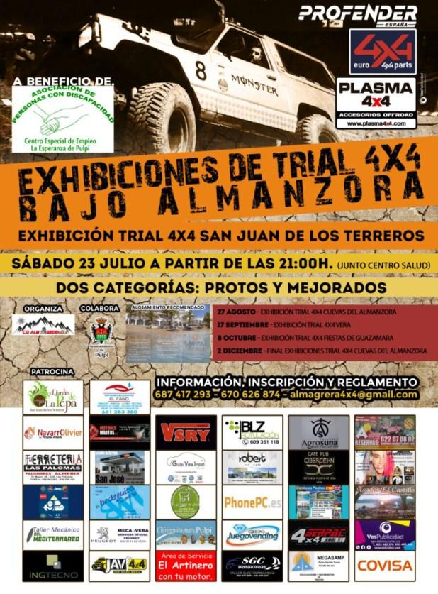 Cartel I Trial 4x4 San Juan de los Terreros