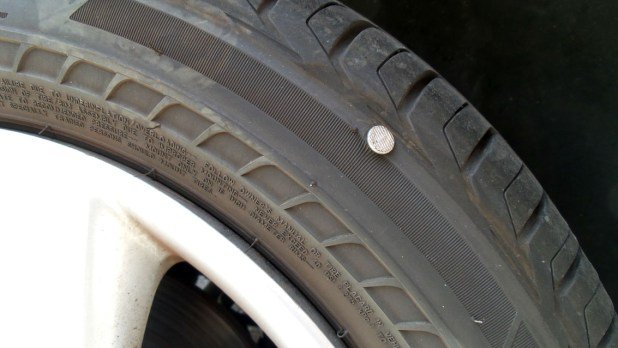 Pinchamos un neumático Bridgestone DriveGuard