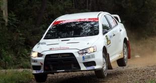 Jorge Cid primer clasificado en la Mitsubishi EVO Cup en el Rally Terra da Auga