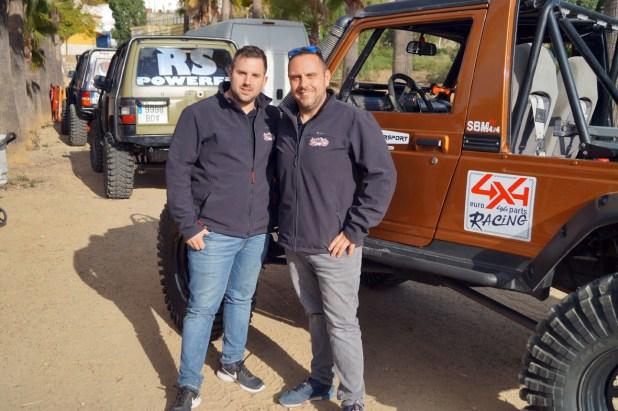 David Rueda Martín y Juan Jesús Sáchez Fernández del equipo Litoral 4x4.