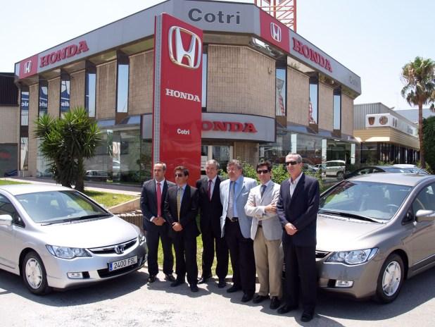 Presentación a la prensa especializada en el motor malagueña del Honda Civic IMA en las instalaciones de Honda Cotri (foto archivo Alejandro Triviño).