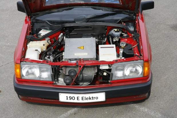 Motor del Mercedes-Benz 190 Eléctrico.