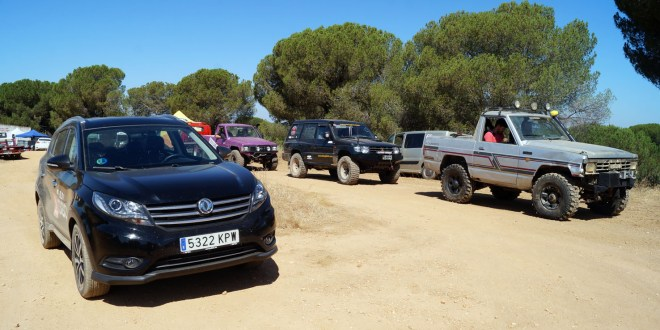 DFSK SUV 580 en la salida de los participantes.