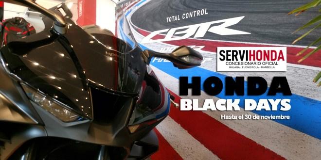 Ofertas y descuentos en Servihonda con motivo de los Honda Black Days.