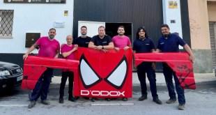 Tras el espectacular vuelco sufrido en Pizarra el Nissan Patrol del equipo Luis Extremo 4×4 recupera su aspecto con la colaboración de grupo D´Odox