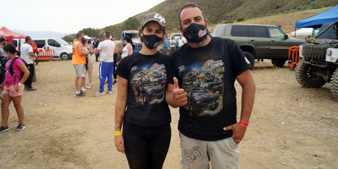 Raquel Cecilia y Manuel Campos del equipo Team Zapatito 4x4.