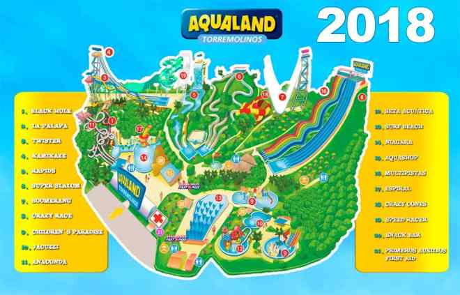 Aqualand map 2018
