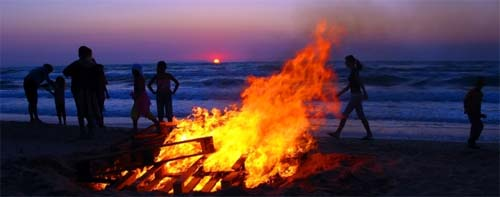 Midsummer's Eve bonfire