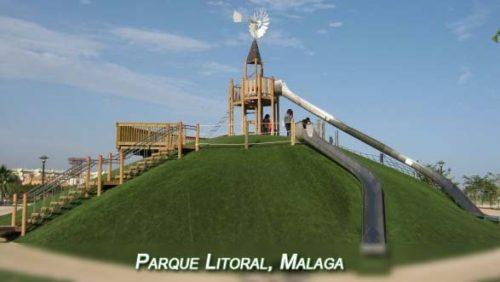 Playground Parque Litoral in Malaga
