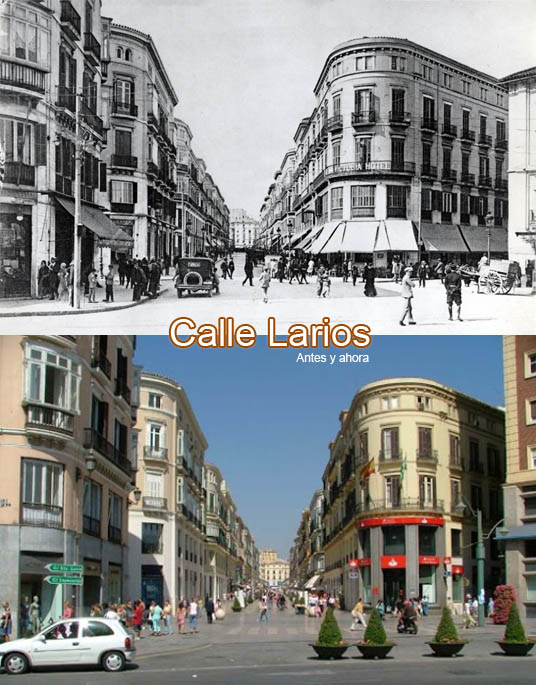 Calle Larios evolution over time