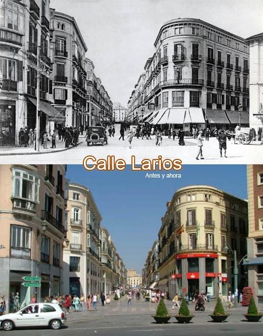 Die Entwicklung der Calle Larios im Laufe der Zeit
