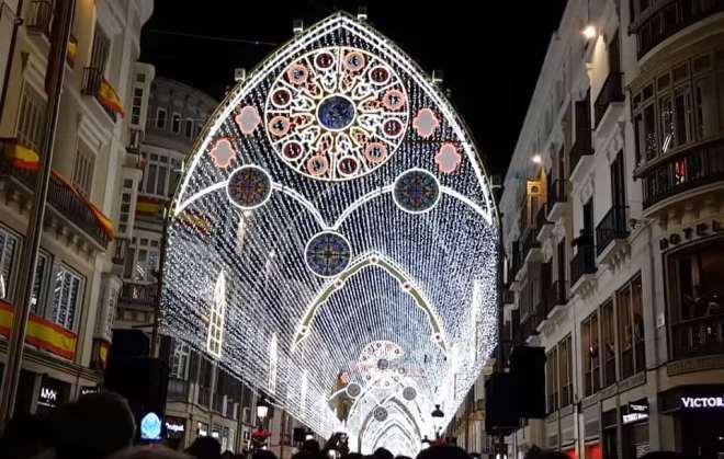 Weihnachtsbeleuchtung in Malaga 2018