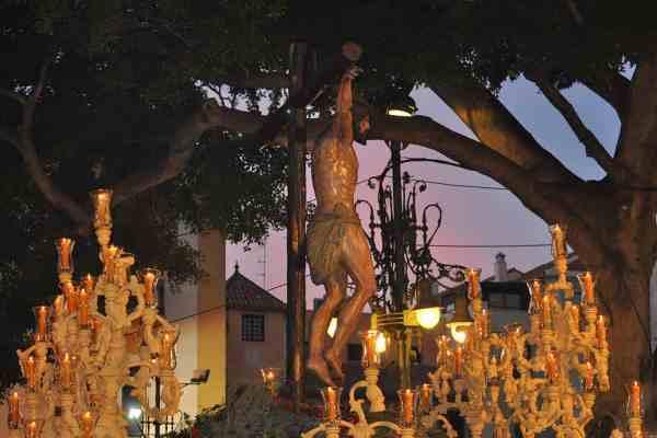 Trono de Semana Santa en Málaga