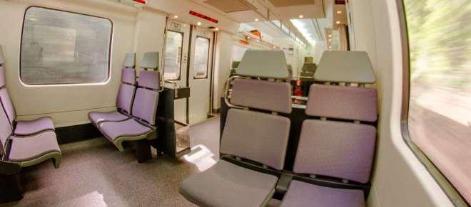 Interior of suburban train