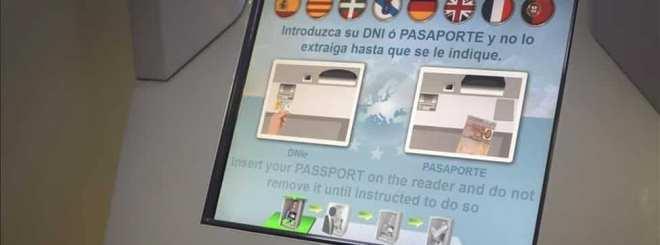 Control biométrico en aeropuerto
