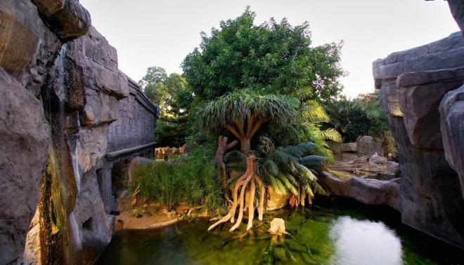 Entorno natural recreado en Bioparc