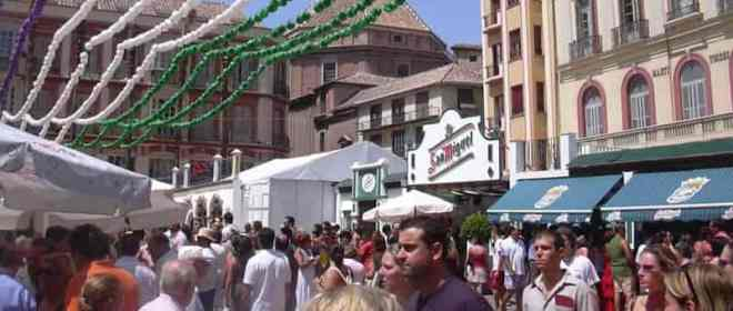 feria en el centro de Málaga