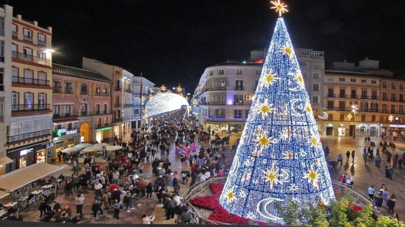 Decoración navideña en Málaga