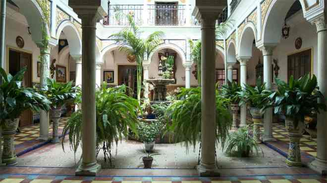 Typical Andalusian patio