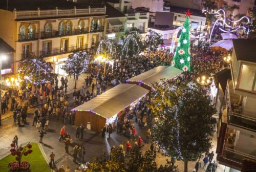 Christmas lighting and flea markets in Torremolinos