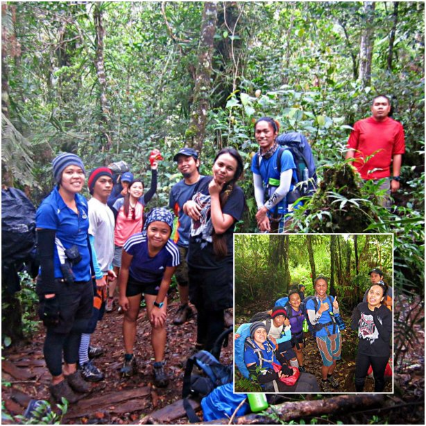 malakat group picture in the forest of mount apo