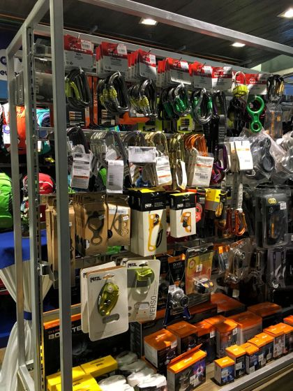 They also offers a range of gear from headlamps, carabiners, walking sticks, and water bottles.