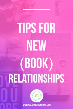 tips for new (book) relationships - pink and purple gradient