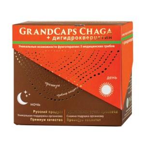 GrandCaps ČAGA - 5 MEDICINSKIH gljiva + dihidrokvercetin pakovanje
