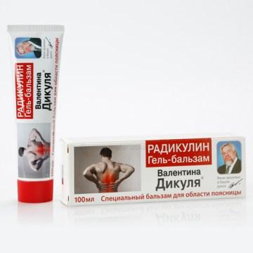 Ruski preparat RADIKULIN gel balzam - za bolove u leđima Valentina Dikulja 100ml