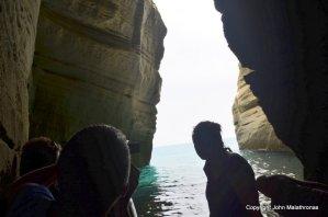 Exploring the caves in Kleftiko Milos