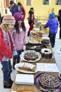 Hom Strom scuol Switzerland School pupils make coffee and sweets for the participants