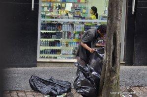 Garbage trawling  Sao Paulo brazil