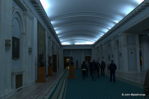Corridor in the Bucharest Parliament palace