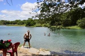 Swimming in the Pratinha lake chapada diamantina lencois Bahia