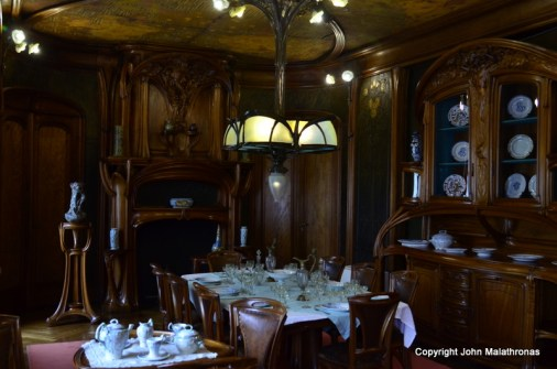 Art nouveau dining room in the museum of the School of Nancy